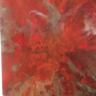 "Bryan Boomershine ""Red Gravity"" Abstract Painting"