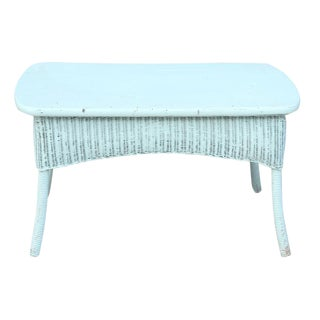 Blue Rattan Center Table