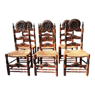 Antique Chairs From Catalonia - Set of 6
