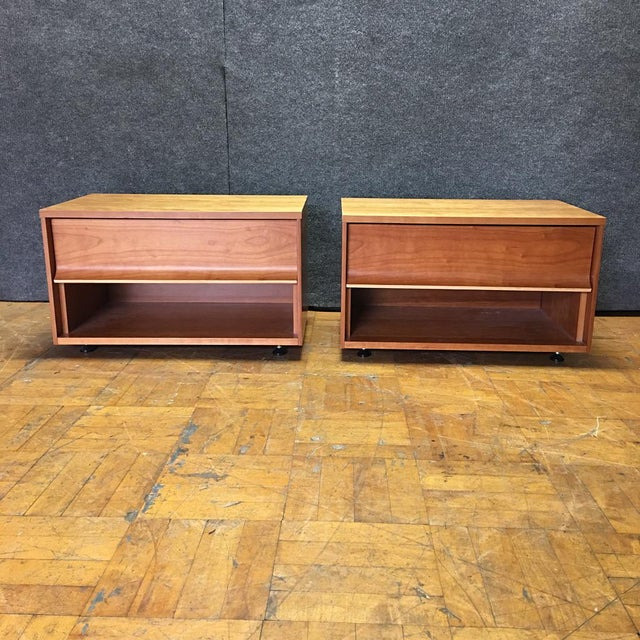 Blue Dot One Drawer Nightstands - A Pair - Image 2 of 8
