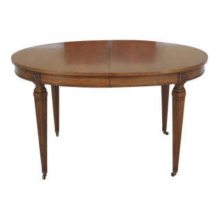 Kindel Regency Style Cherry Oval Dining Room Table
