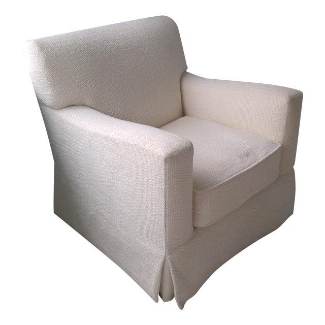 Chenille Armchair: Brousse Chenille Swivel Armchair