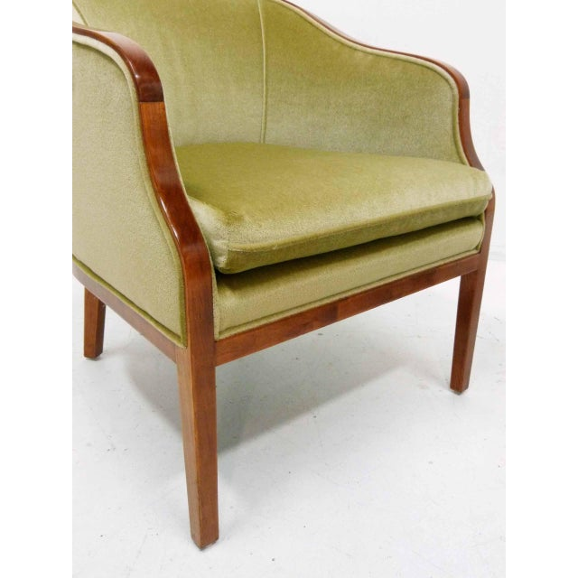 Ward Bennett Mohair Club Chairs - Pair - Image 6 of 10