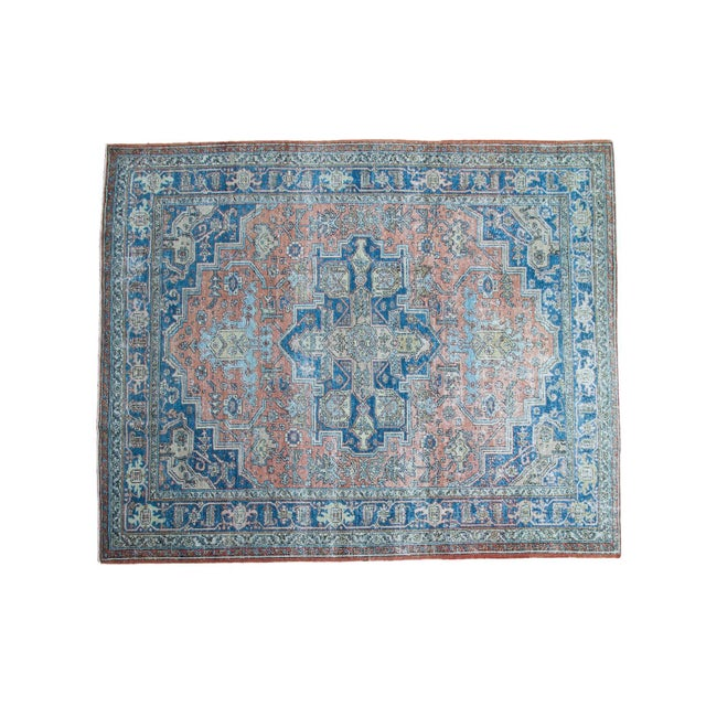"Mid-Century Distressed Oushak Rug - 8'2"" X 10' - Image 1 of 10"