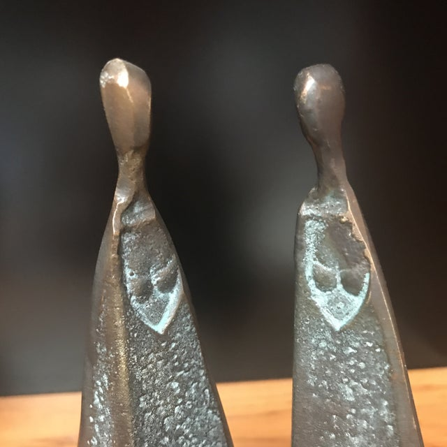 Bronze Modernist Female Figures - A Pair - Image 3 of 6