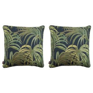 Palmeral Medium Linen Cushions - a Pair