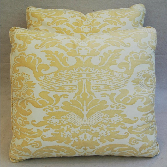 Mariano Fortuny Italian Corone Crown Feather/Down Pillows - Pair - Image 7 of 10