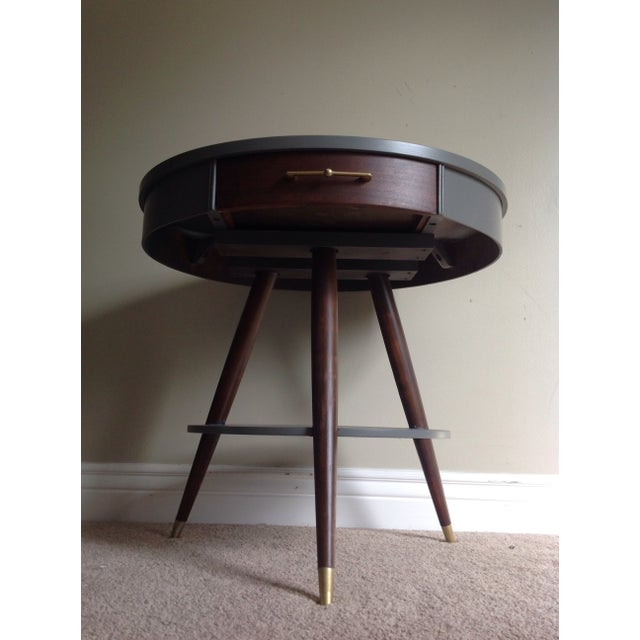 Mid-Century Tripod Leg Table with Drawer - Image 5 of 7