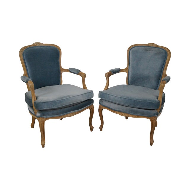 Rowe Louis XV Style Fauteuils Arm Chairs - Pair - Image 1 of 10