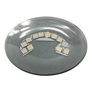 Smoked Glass Commemorative Telephone Plate