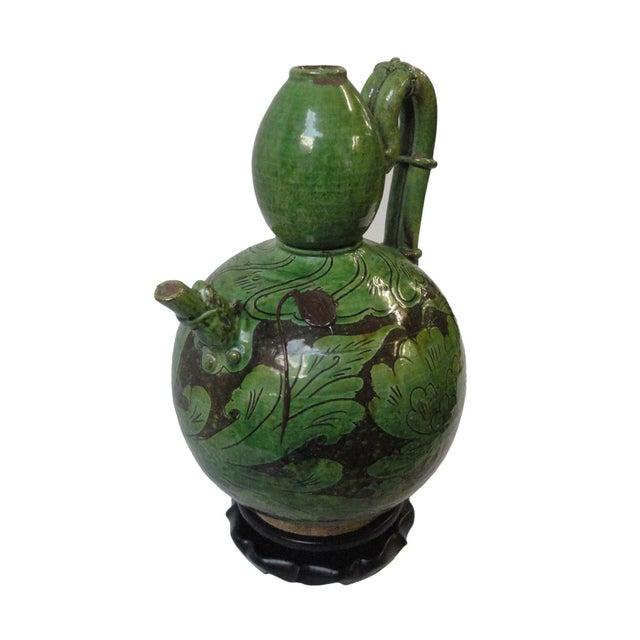 Image of Chinese Porcelain Green Display Art Pot
