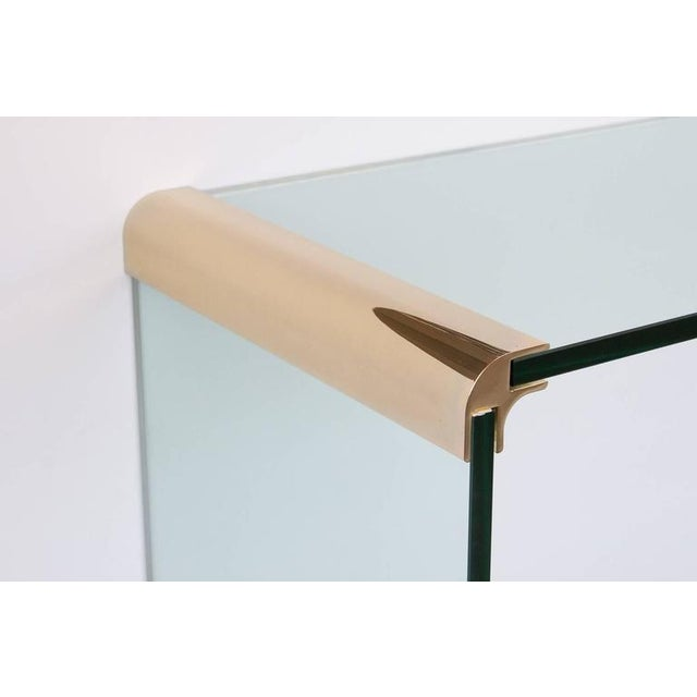 Leon Rosen for Pace Waterfall Console Table-Pair Available - Image 4 of 6