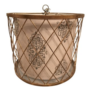 Brushed Bronze & Linen Chandelier