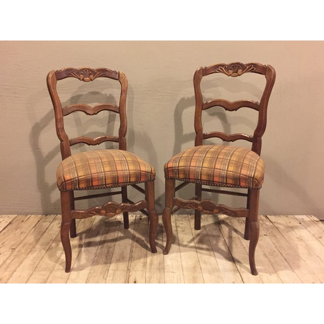 Image of Antique 1900's French Country Side Chairs - Pair