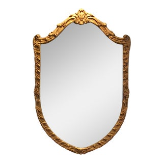 Antique Gilt Carved Shield Mirror