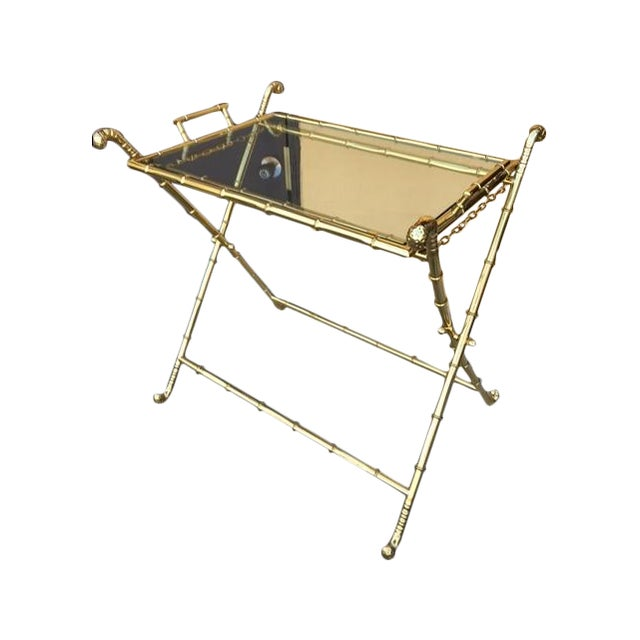 Contemporary Brass Bar Table - Image 1 of 8