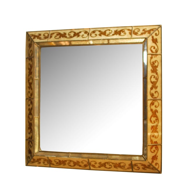 Venetian Style Reverse Painted Mirror - Image 1 of 4