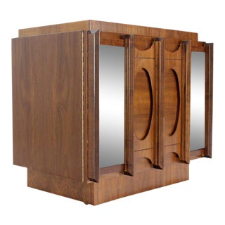 Mid-Century Modern Oiled Walnut Night Stand or End Table