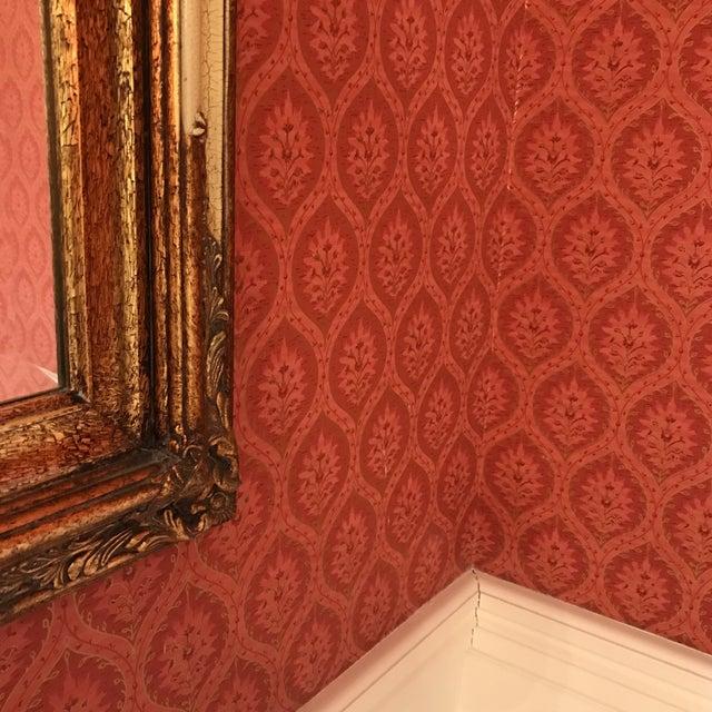 Vintage Carved Crackled Wood & Burnished Gold Mirror - Image 6 of 8