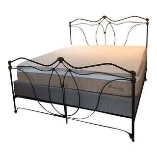 Incredible Handmade King Size Iron & Brass Bed by Brass Beds of Virginia