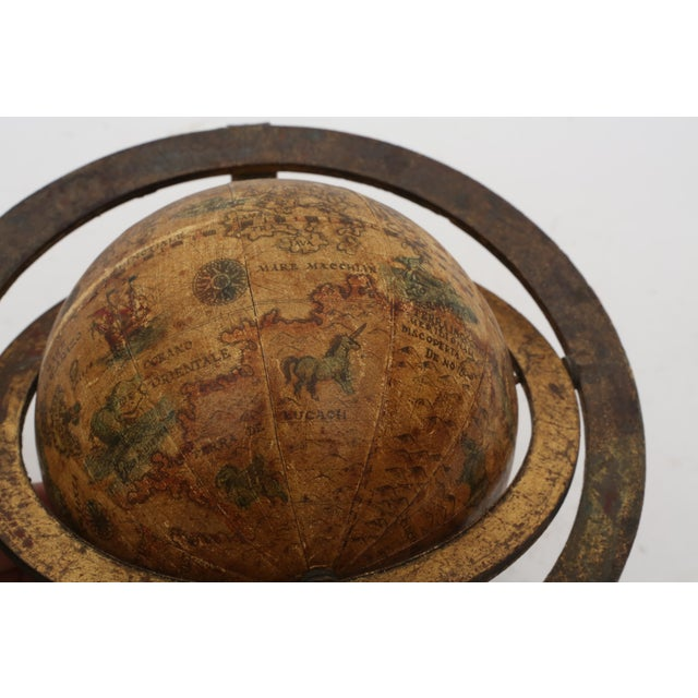 Italian Mini Old World Globe with Brass stand - Image 3 of 10
