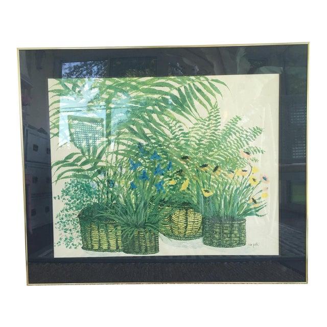 1970's Palm Beach Regency Artist Ida Pellei Botanical Gallery Framed Art - Image 1 of 11