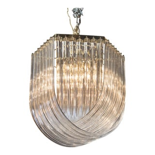 Remarkable Lucite Ribbon Chandelier