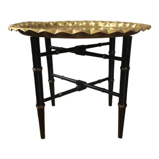 Vintage Asian Brass Tray Table