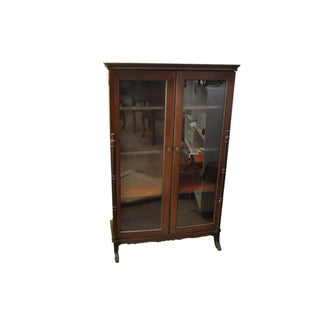 Small Vintage Bar Glassware Storage Cabinet