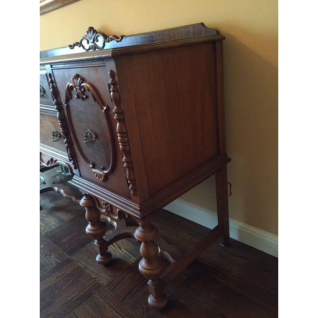 Traditional Mahogany Stained Hardwood Buffet - Image 3 of 5
