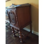 Image of Traditional Mahogany Stained Hardwood Buffet