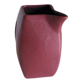 1930s Niloak Maroon Pottery Pitcher