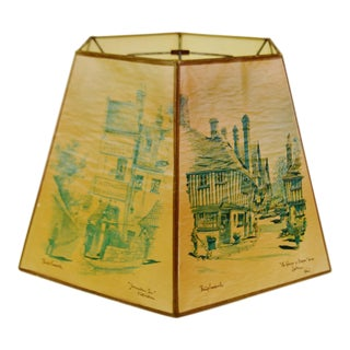 Vintage 1920's Hexagonal Tapered Lamp Shade
