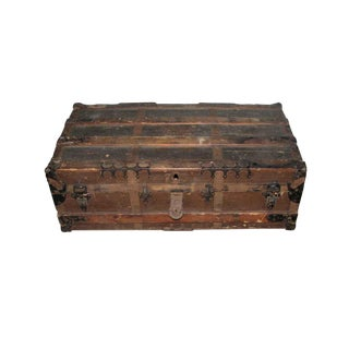 Antique Brown Storage Trunk