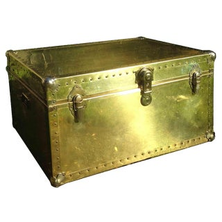 Brass Storage Trunk With Metal Hardware