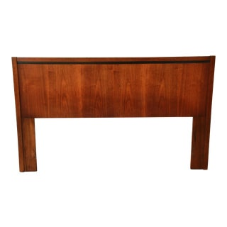 Milo Baughman for Dillingham Walnut Queen Size Headboard
