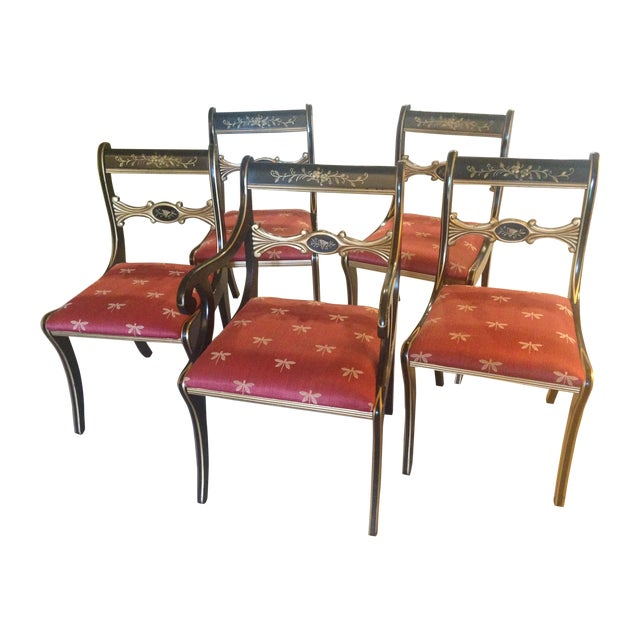 Hand-Painted Chairs - Set of 5 - Image 1 of 7