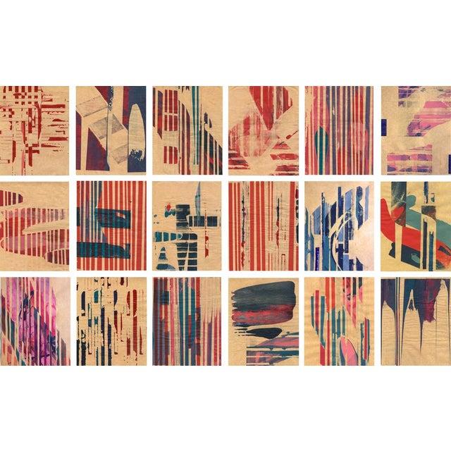 Modern 'Red Meets Blue #18' Framed Print - Image 3 of 4