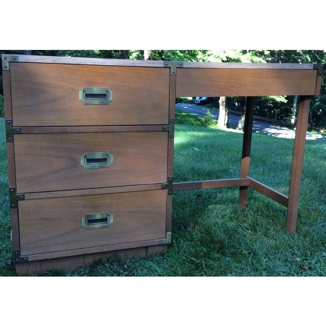 """1960's Drexel """"Campaigner"""" Desk - Image 2 of 8"""