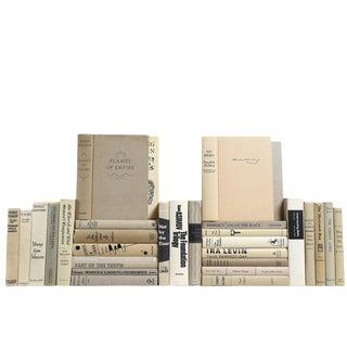 Vintage Light Gray & Cream Books - Set of 30
