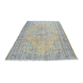 Oushak Area Bohemian Turkish Wool Rug - 6′4″ × 9′5″