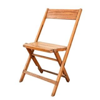 Vintage Antique Snyder Oak Wood Folding Chair - 5 Available