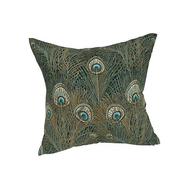 Liberty of London Peacock Pillows - Pair - Image 5 of 6