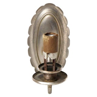 Single Arm Nickel Over Brass Sconce