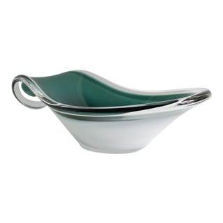 Swedish Modern Green & White Bowl