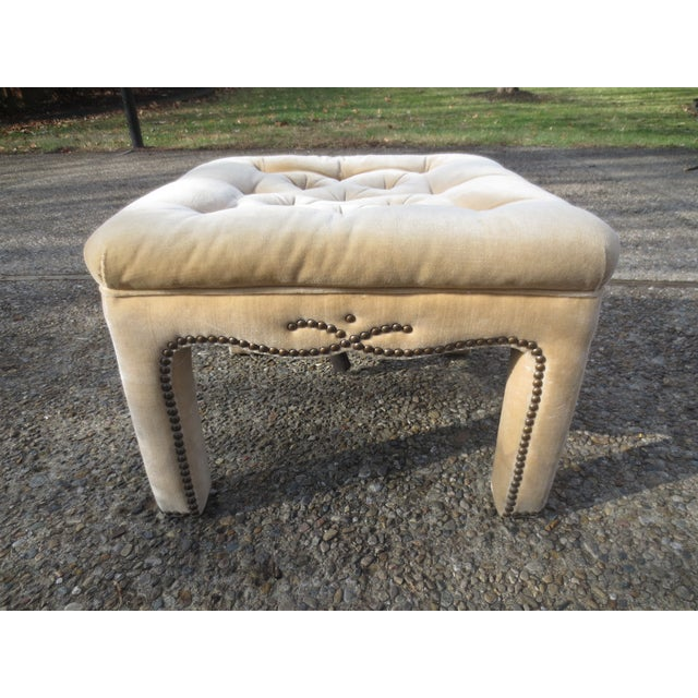 Vintage Parson's Style Ottomans - A Pair - Image 6 of 8