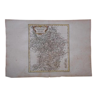 Antique 18th C. Map-France-Haut et Bas Rhin