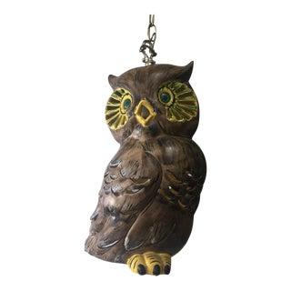 Vintage Owl Swag Light