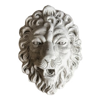 Cast Stone Lion Head Garden Ornament