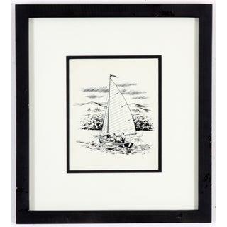 Three Sailors Ink Drawing